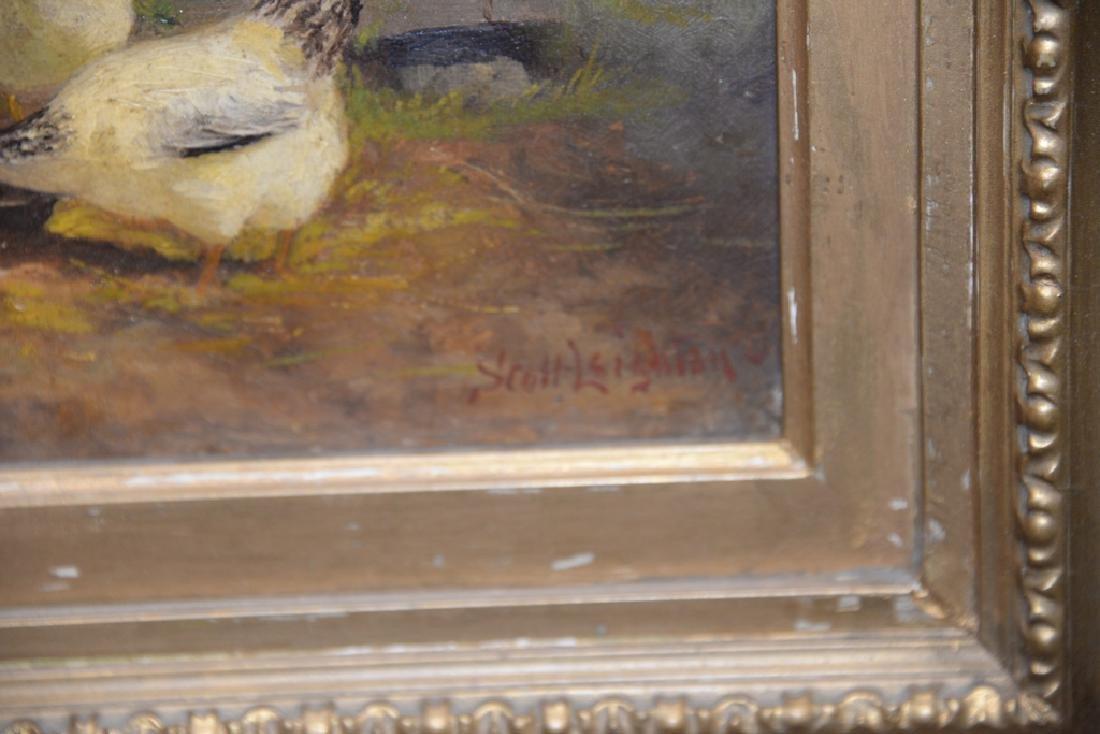 Scott Leighton (1849-1898),  oil on canvas,  Barnyard - 4