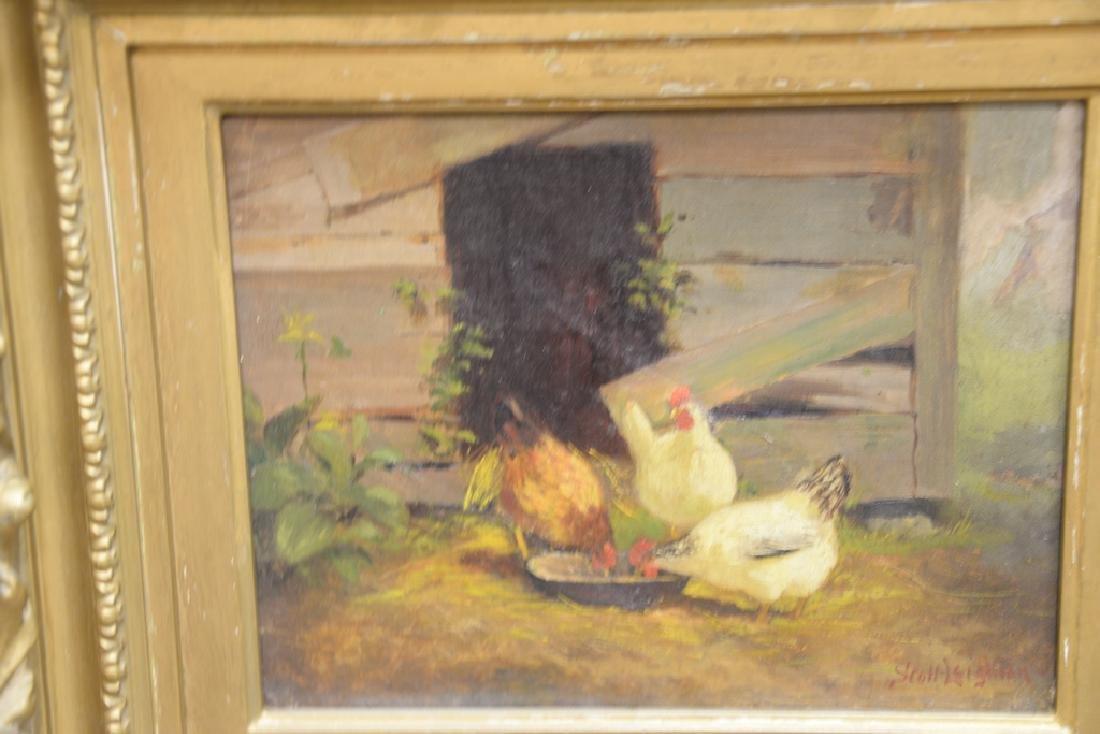 Scott Leighton (1849-1898),  oil on canvas,  Barnyard - 5