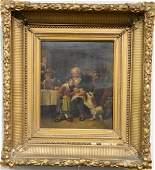 German School 19th century oil on canvas interior
