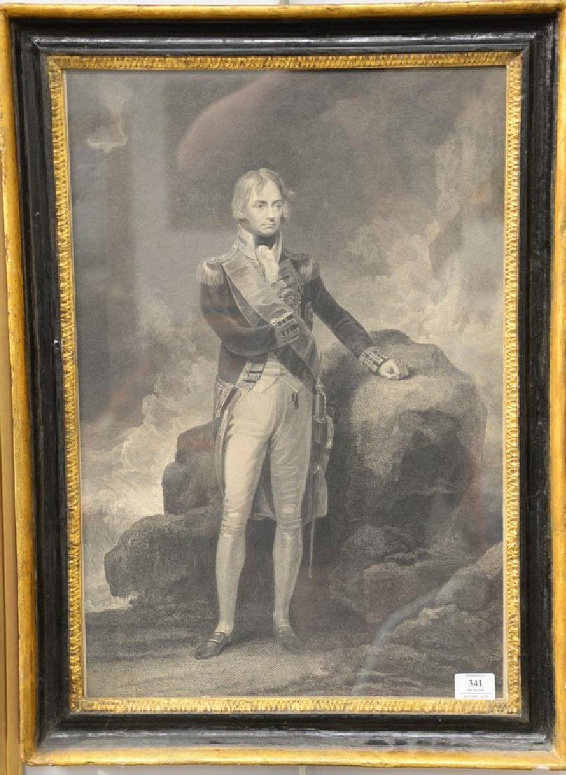 19th Century, engraving of Admiral Lord Nelson standing