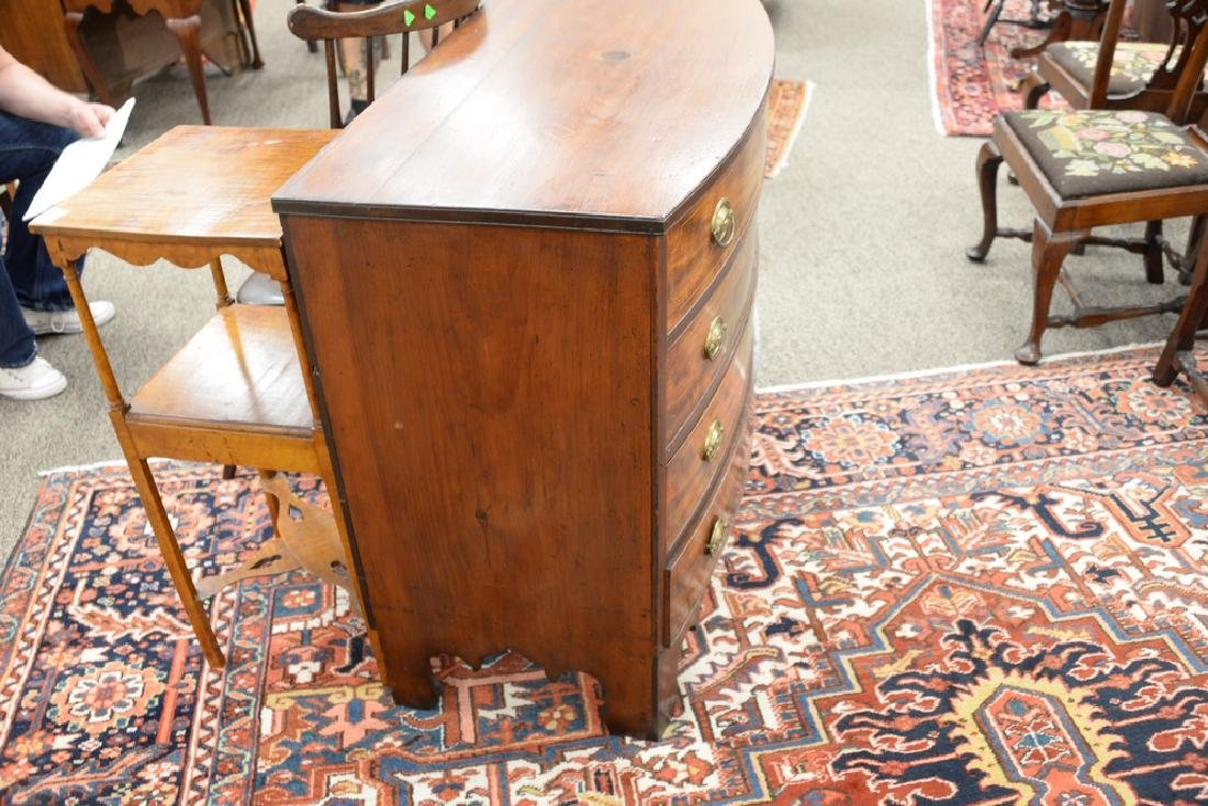 Chippendale mahogany bowed front four drawer chest with - 5