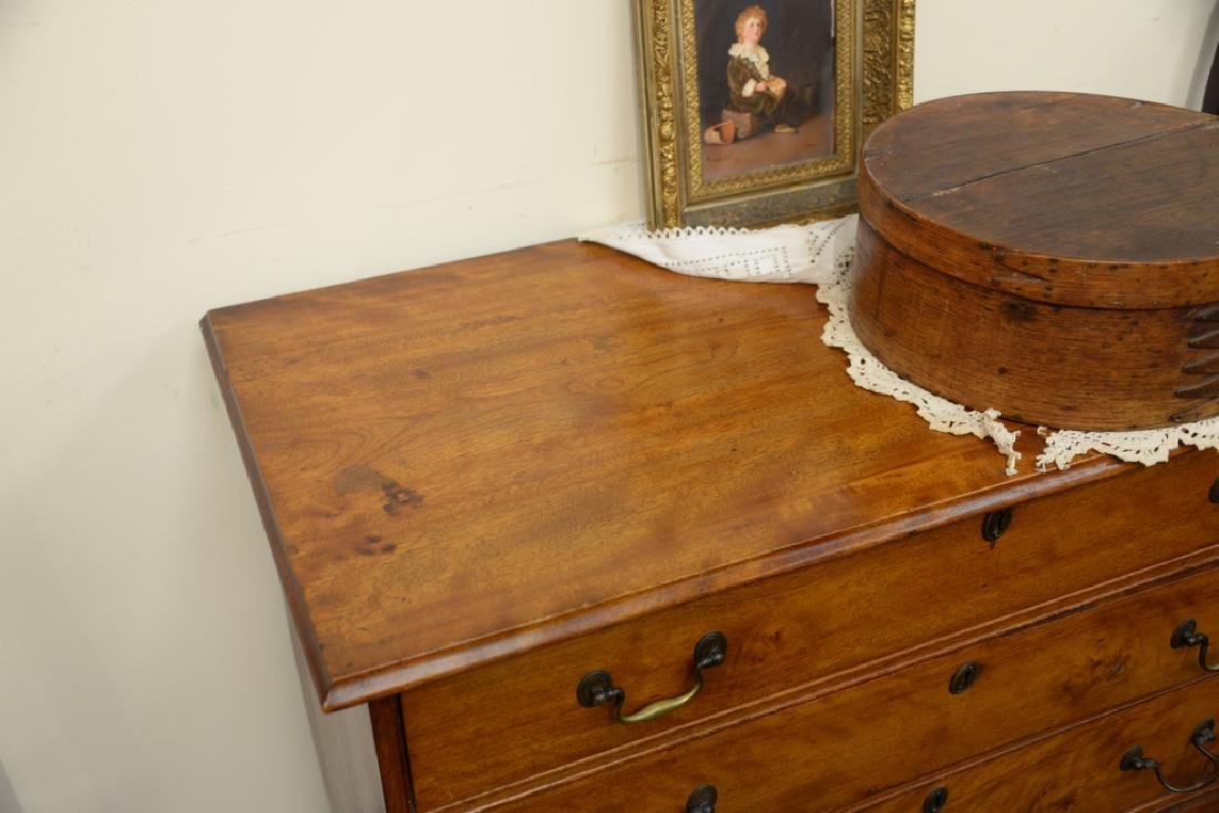 Chippendale four drawer chest on bracket feet.  height - 5