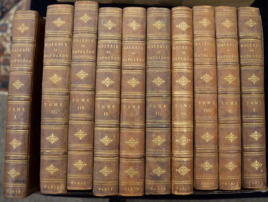 Ten volume set of books, Galerie Du Musee Napoleon by