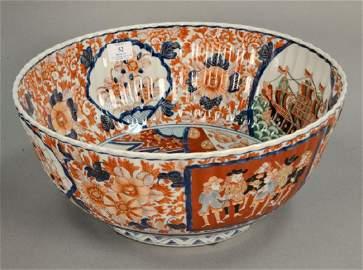 Large Imari punch bowl. ht. 7 1/4 in., dia. 16 1/4 in.