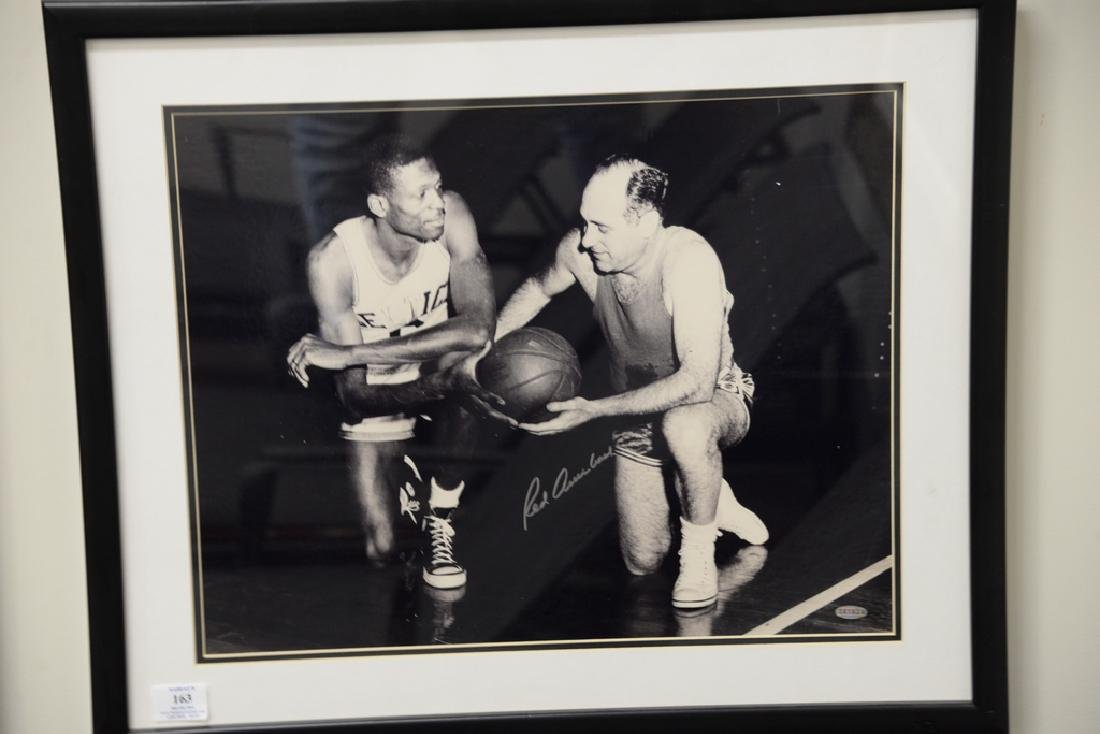 Red Auerbach signed photograph with Celtic legend Bill - 2