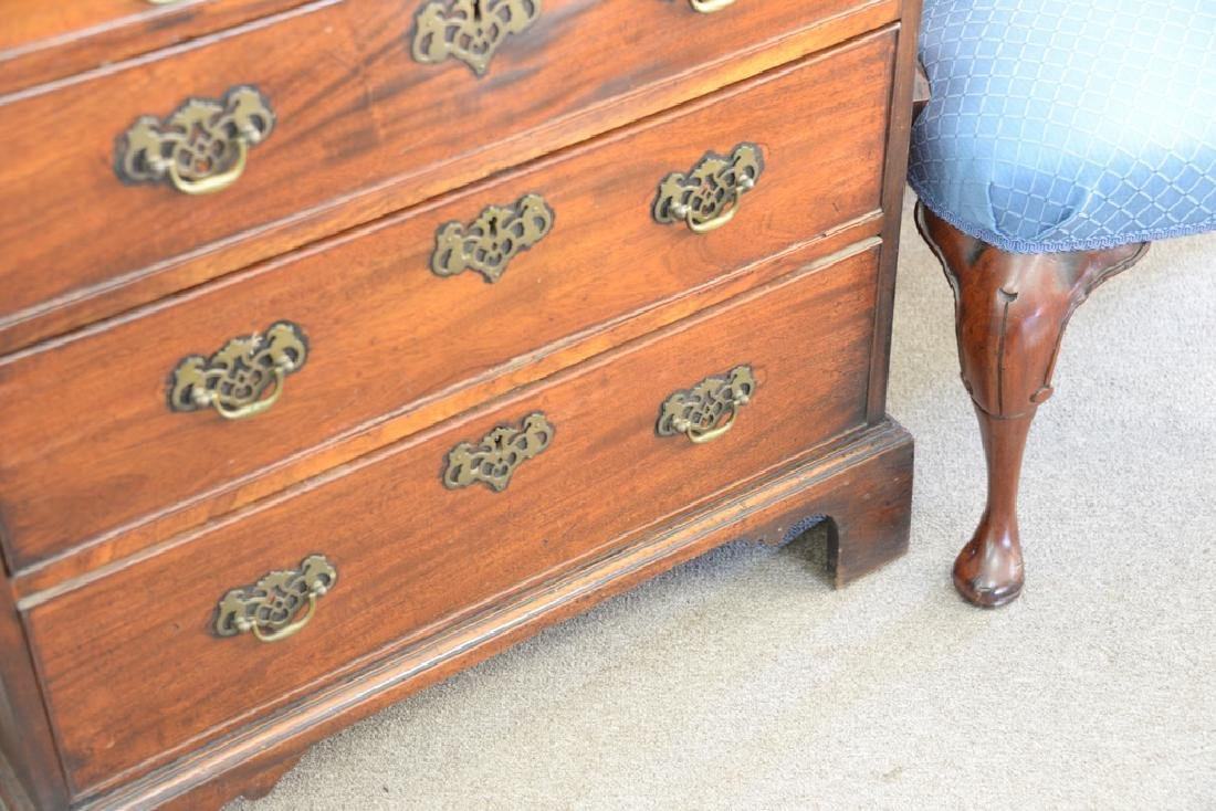 George III mahogany two over three drawer chest - 4