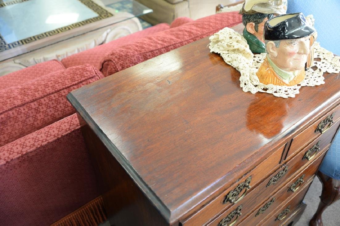 George III mahogany two over three drawer chest - 5