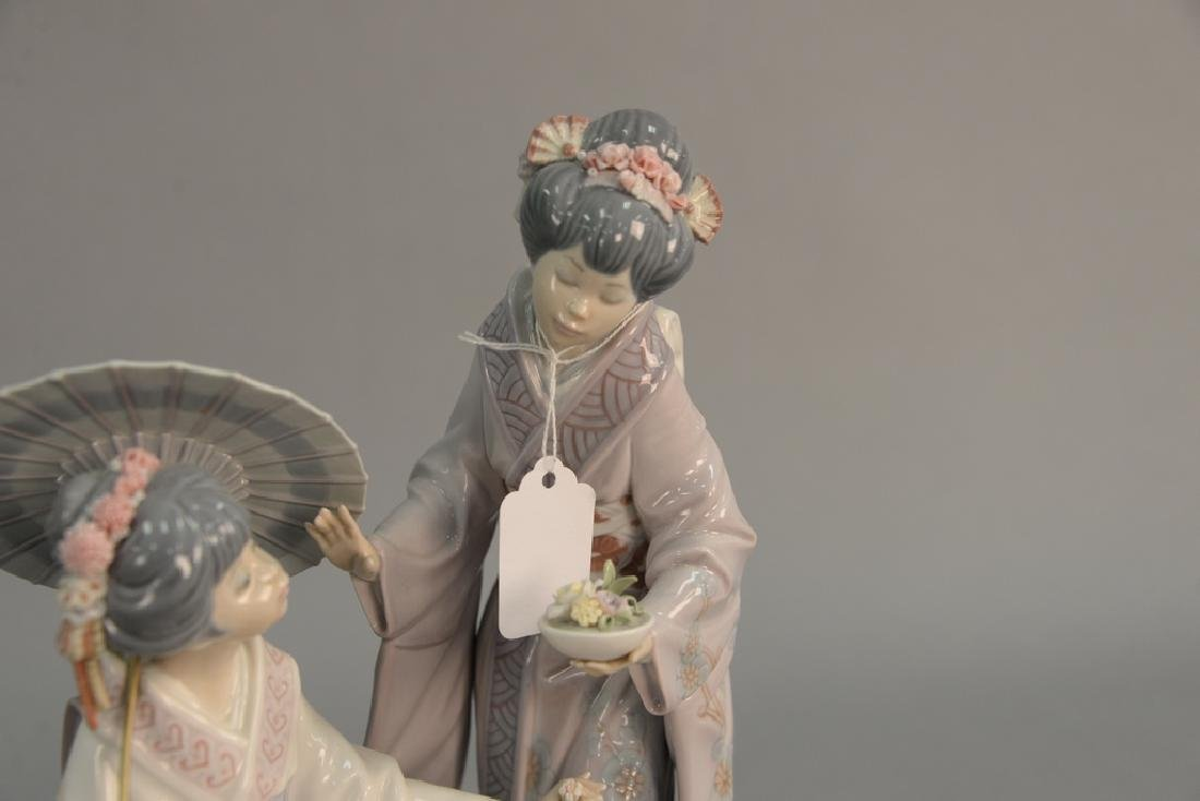Lladro porcelain figurine having two Geisha girls on a - 4