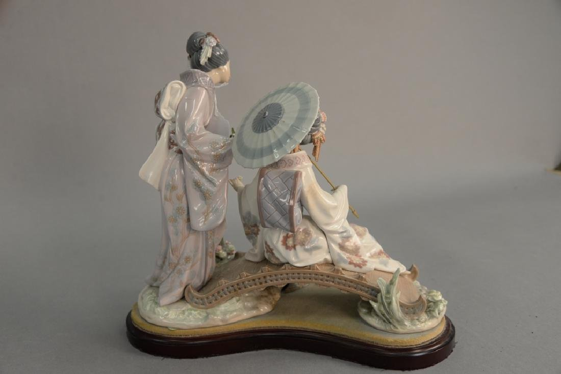 Lladro porcelain figurine having two Geisha girls on a - 5