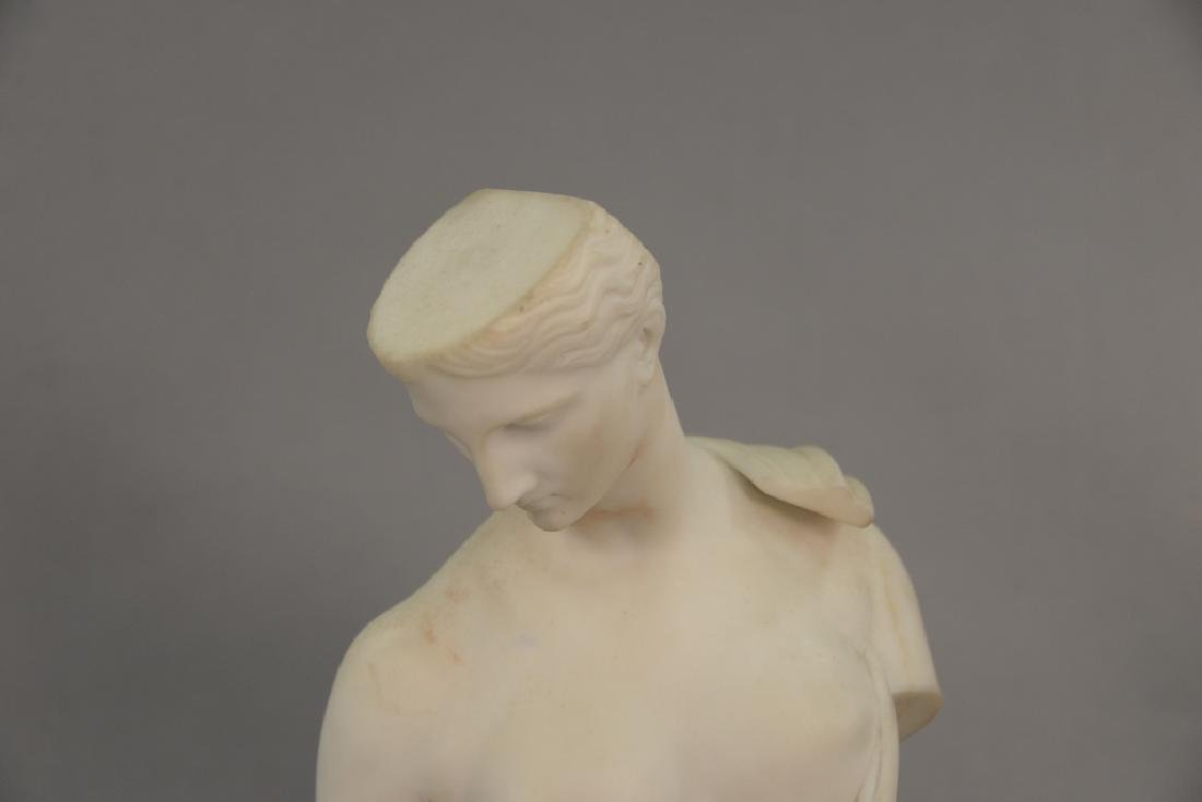 Clerici, 19th century marble bust of a man signed and - 2