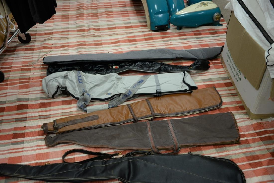 Large group of gun, rifle, and shotgun cases. - 4