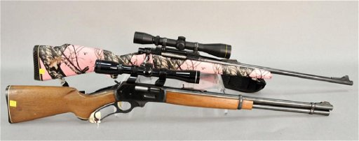 Two rifles Marlin model 336 lever action,  30-30 cal
