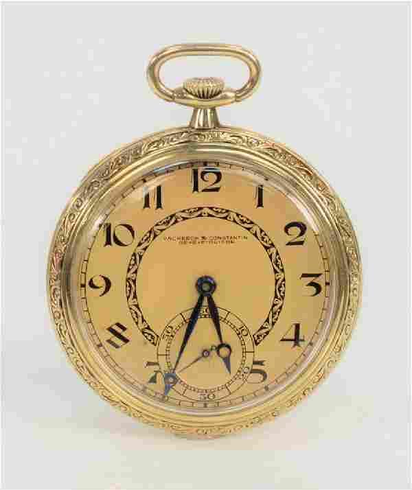 Vacheron and Constantin 14 karat gold open face pocket