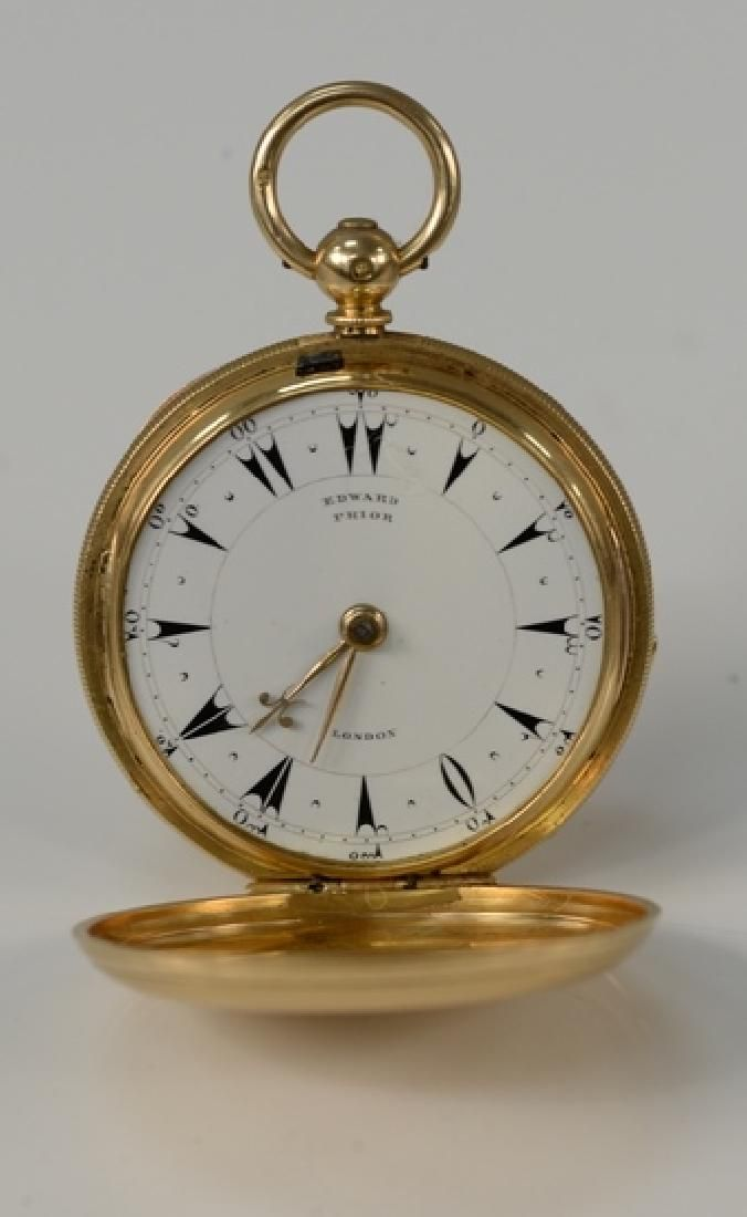 Edward Prior 18 karat gold closed face pocket watch,
