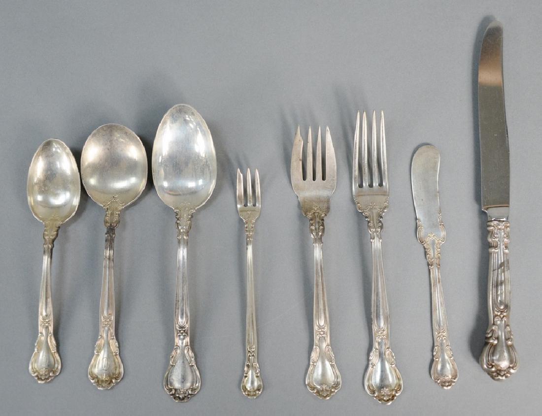 Gorham 103 piece sterling silver flatware, Chantilly