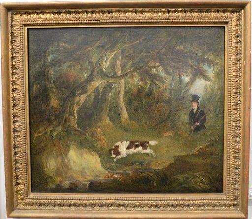 Attributed to John E  Ferneley Sr  (1782-1860), oil on