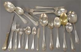 Tiffany  Co sterling silver flatware set Flemish