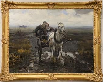 Alfred Von Wierusz-Kowalski (1849-1915),  oil on