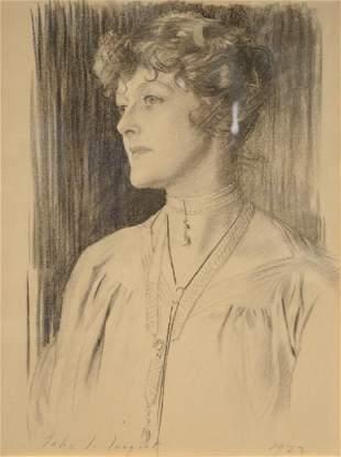 John Singer Sargent (1856-1925), charcoal on paper,
