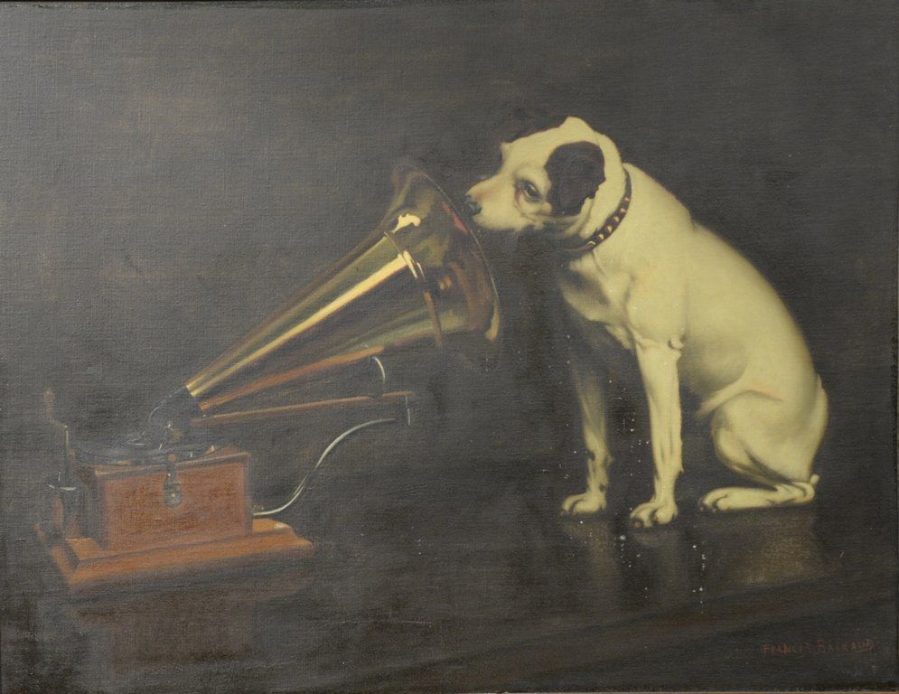 """Francis Barraud (1856-1924), oil on canvas, """"His"""