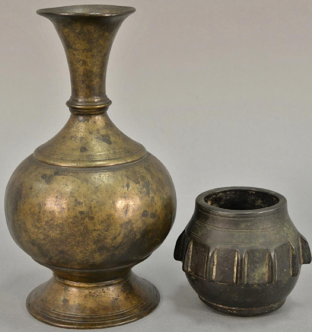 Two early vases including bronze Eastern vase, possibly