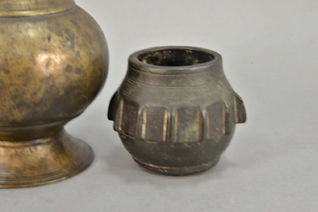 Two early vases including bronze Eastern vase, possibly - 2