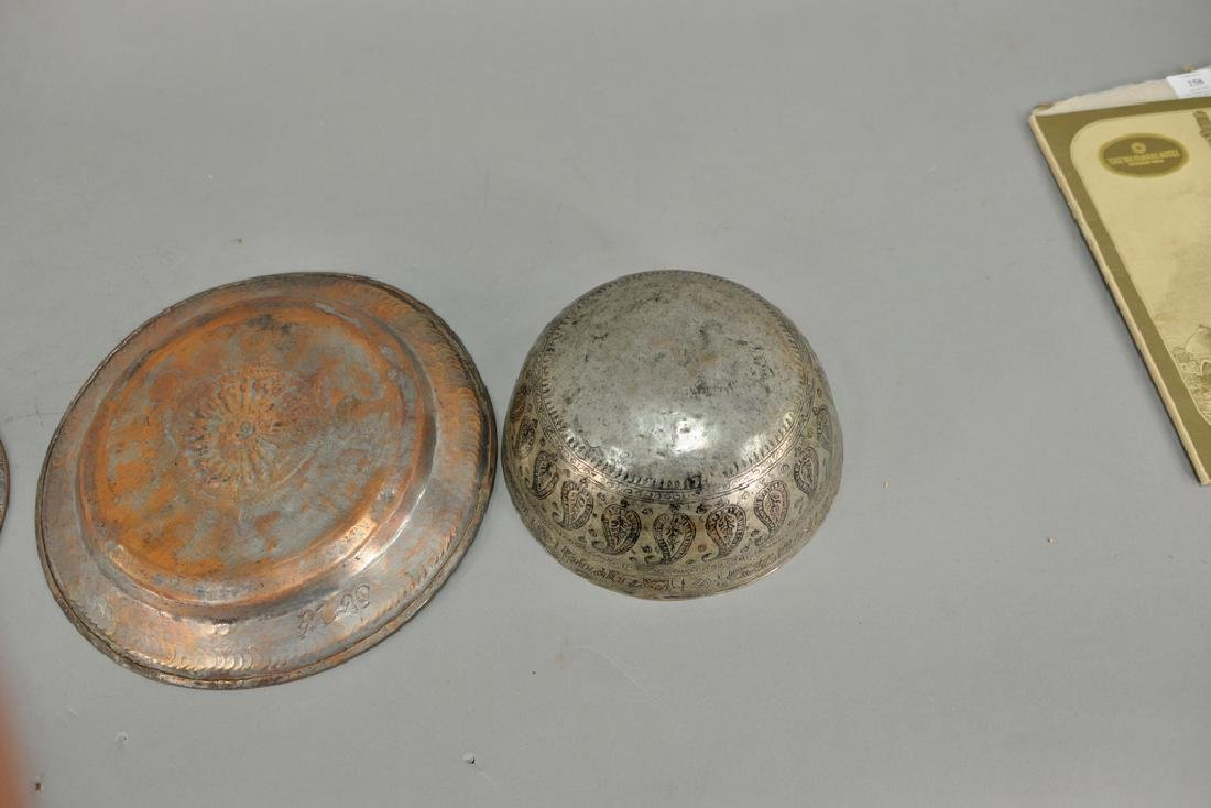 Group of fourteen antique copper pieces, hand hammered - 6