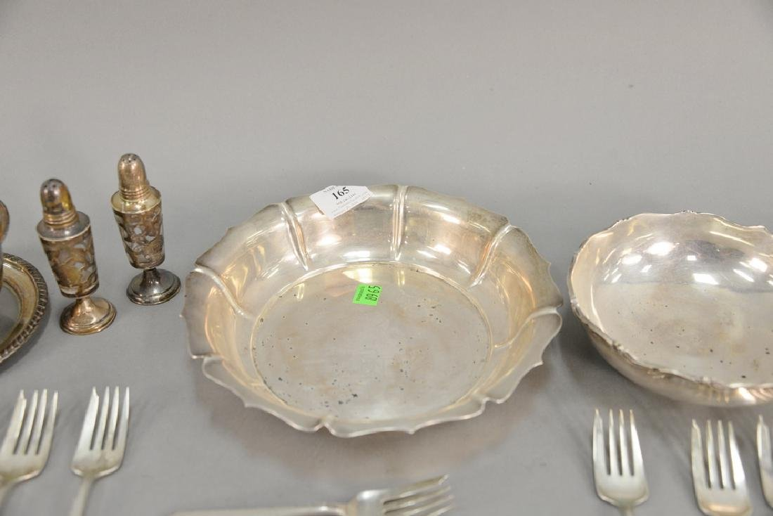 Sterling silver lot to include three bowls and - 5