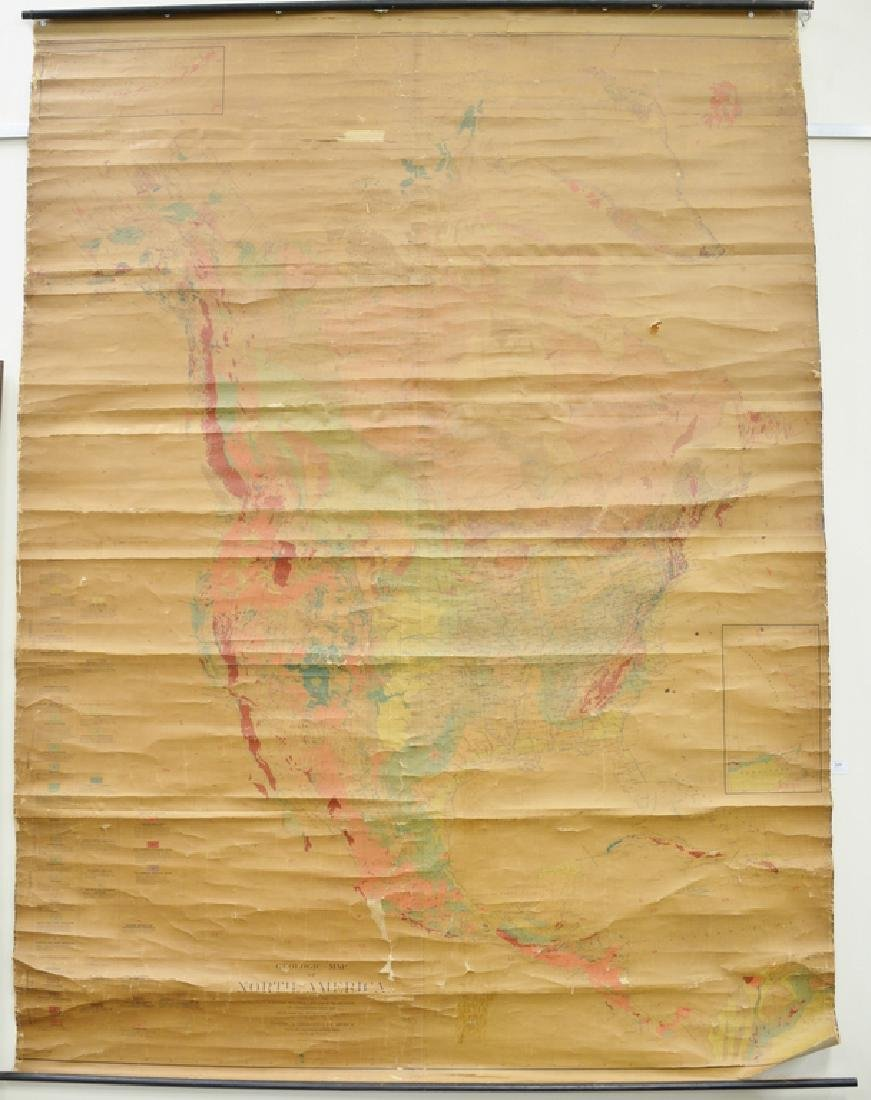 Early school map of United States, Geologic Map of