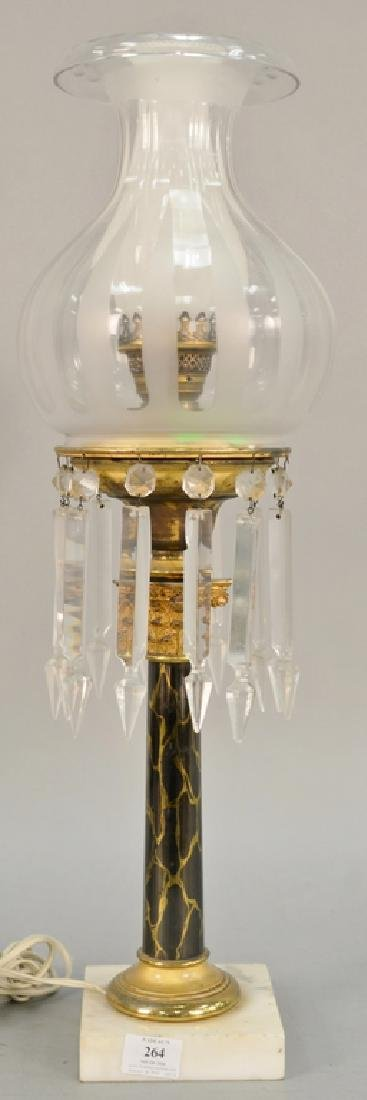 Astral lamp with shade (electrified). ht. 26 1/2 in.