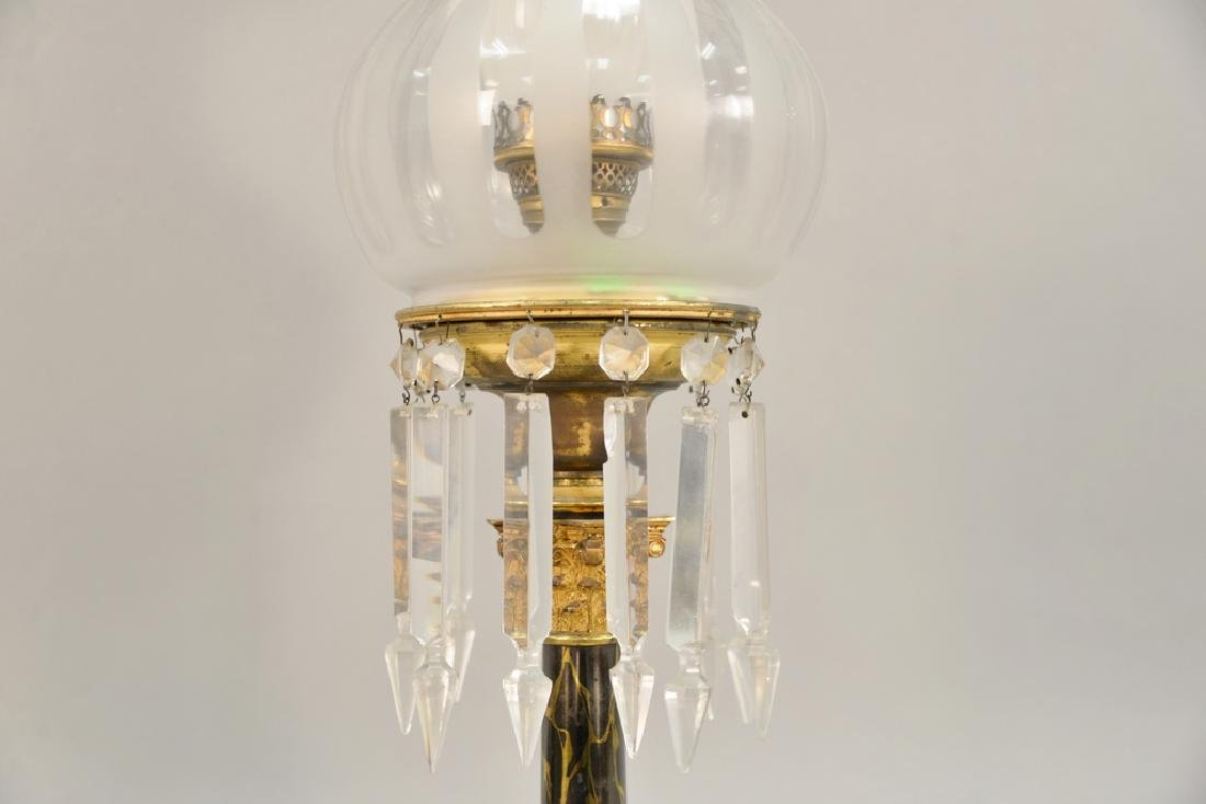 Astral lamp with shade (electrified). ht. 26 1/2 in. - 2