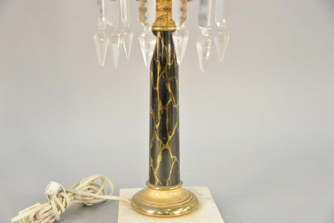 Astral lamp with shade (electrified). ht. 26 1/2 in. - 3