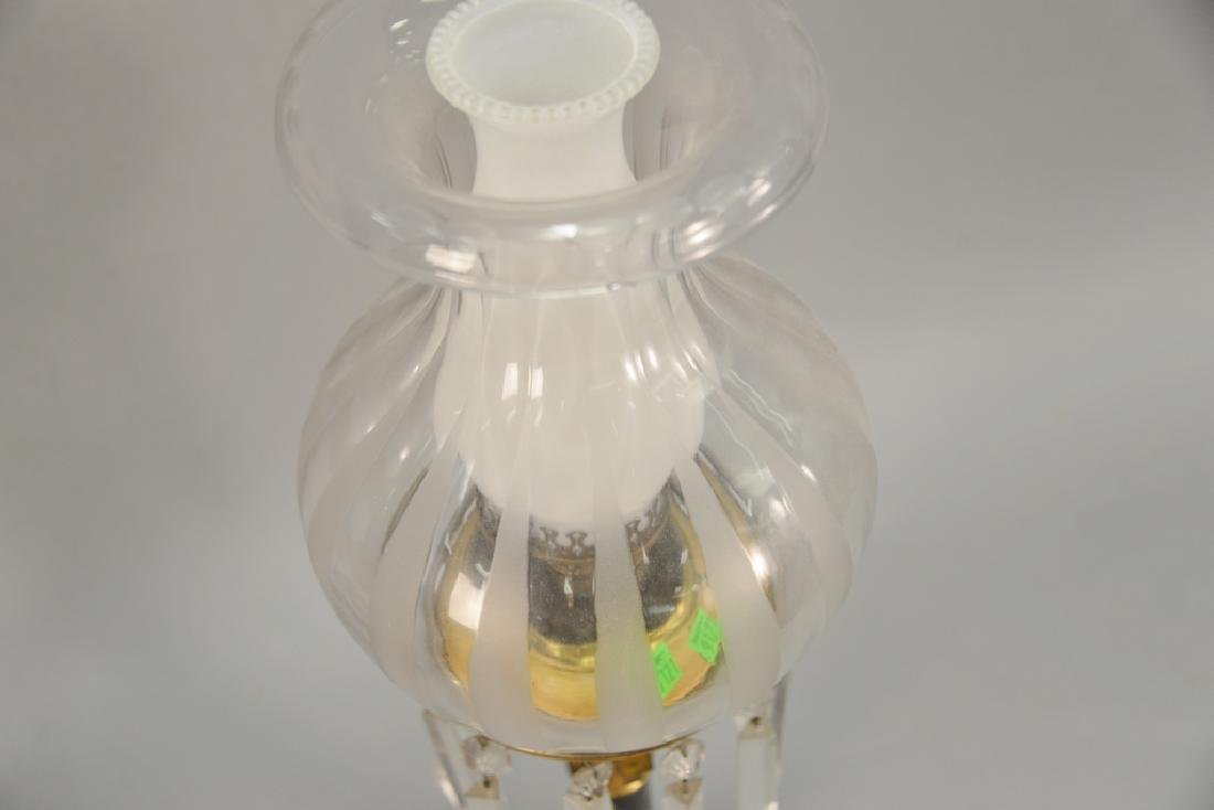 Astral lamp with shade (electrified). ht. 26 1/2 in. - 4