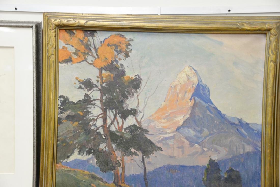 Matterhorn oil on canvas, signed illegibly lower left. - 2
