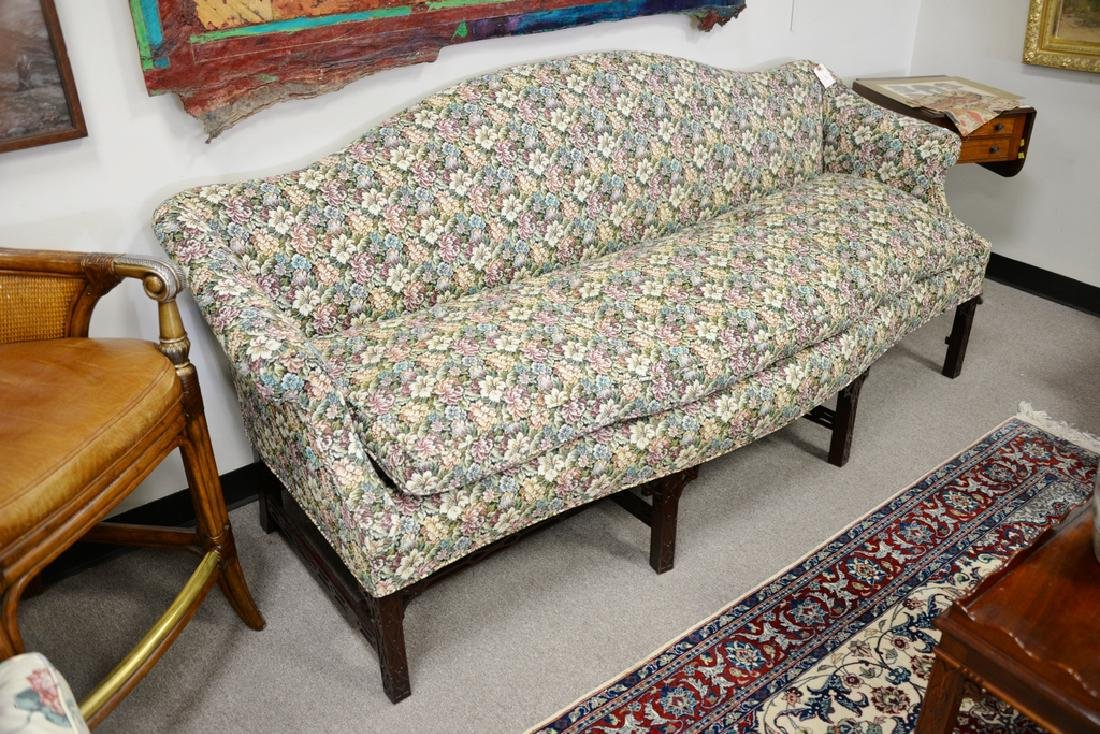 Fineberg Chippendale style camel back sofa on blind - 2
