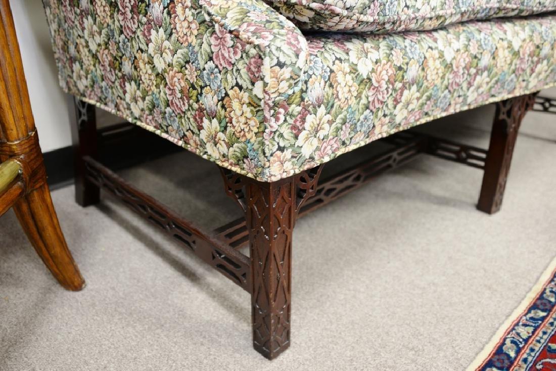 Fineberg Chippendale style camel back sofa on blind - 3
