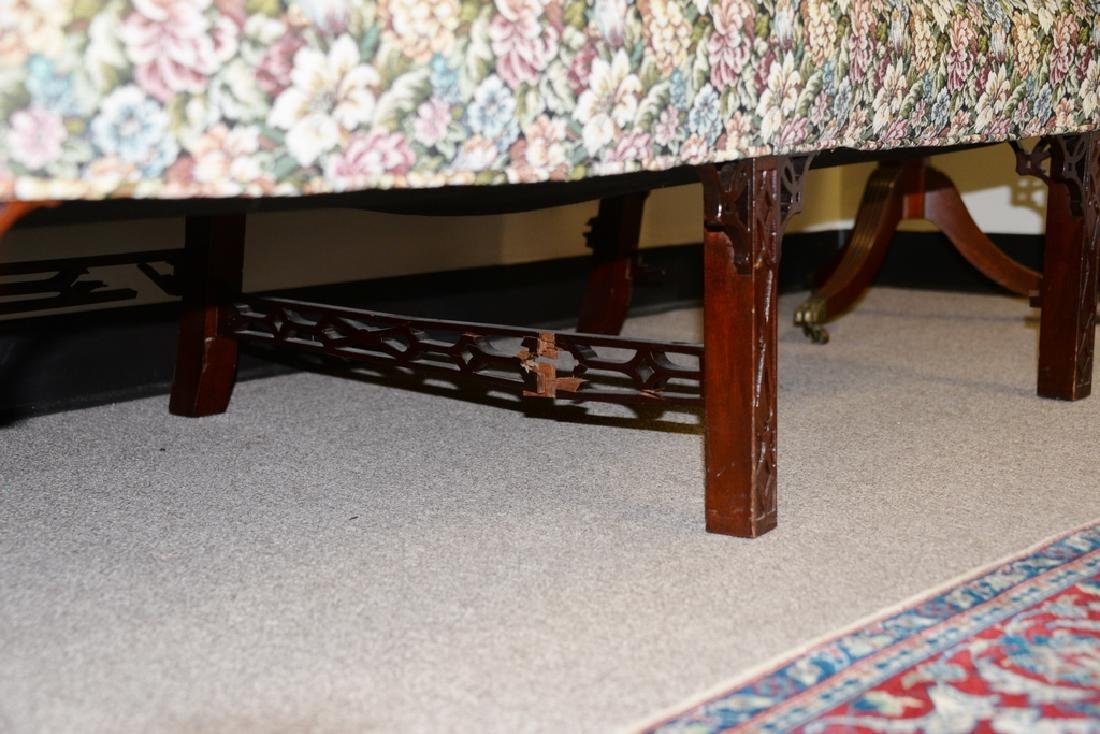 Fineberg Chippendale style camel back sofa on blind - 4