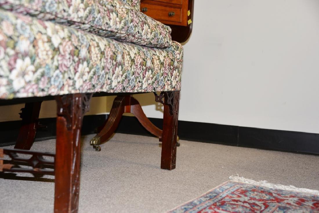 Fineberg Chippendale style camel back sofa on blind - 5