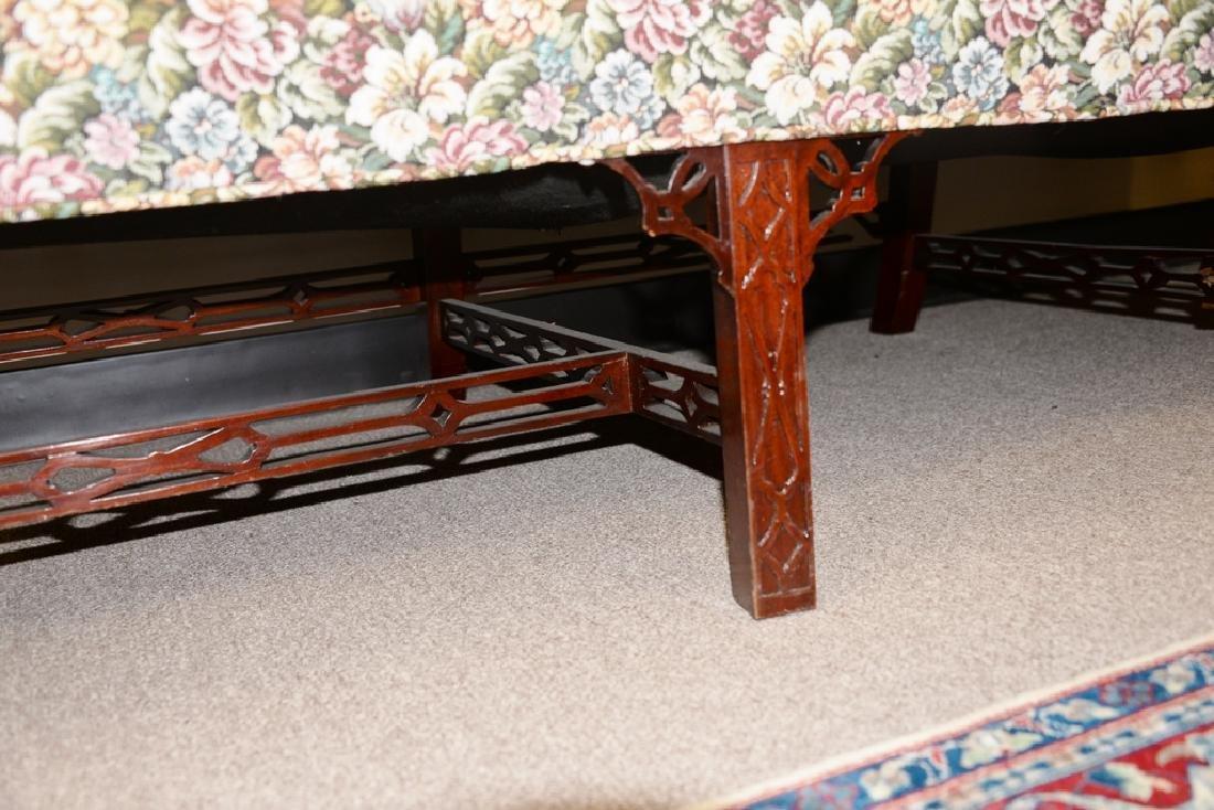 Fineberg Chippendale style camel back sofa on blind - 6