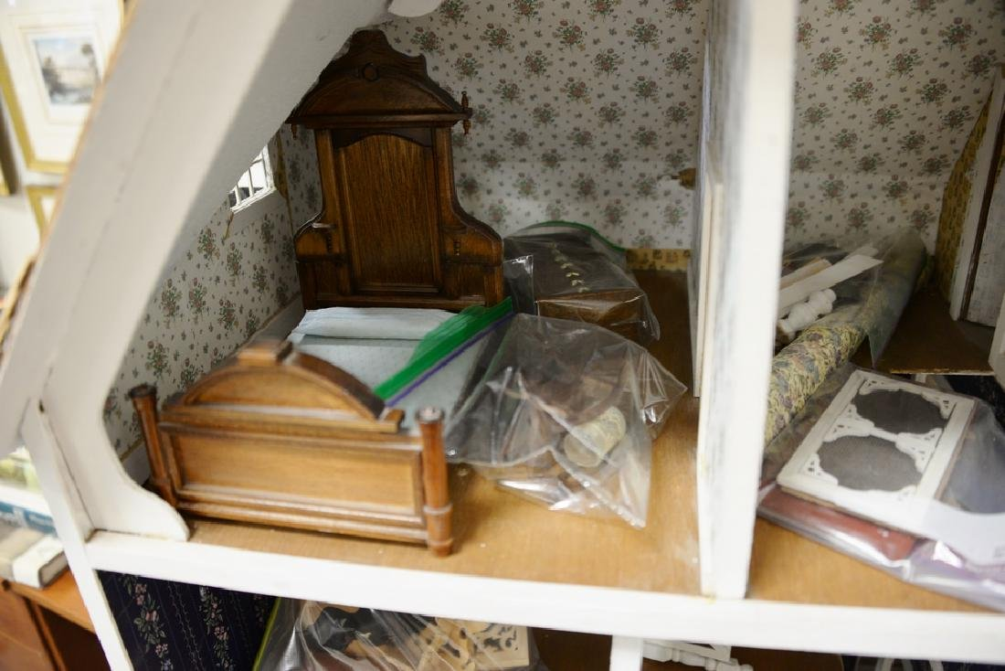 Doll house with furnishings. ht. 31 in., wd. 40 in., - 3