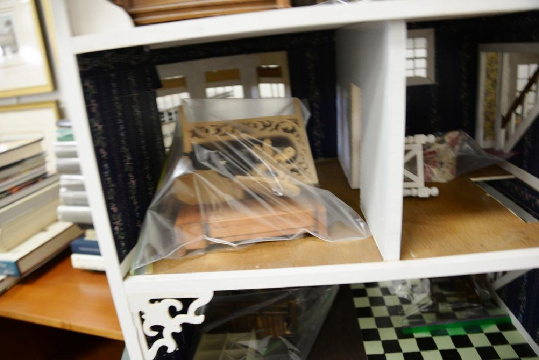 Doll house with furnishings. ht. 31 in., wd. 40 in., - 4