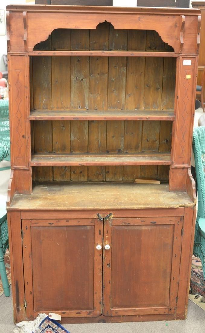 Primitive style cupboard. ht. 57 in., wd. 37 1/2 in.