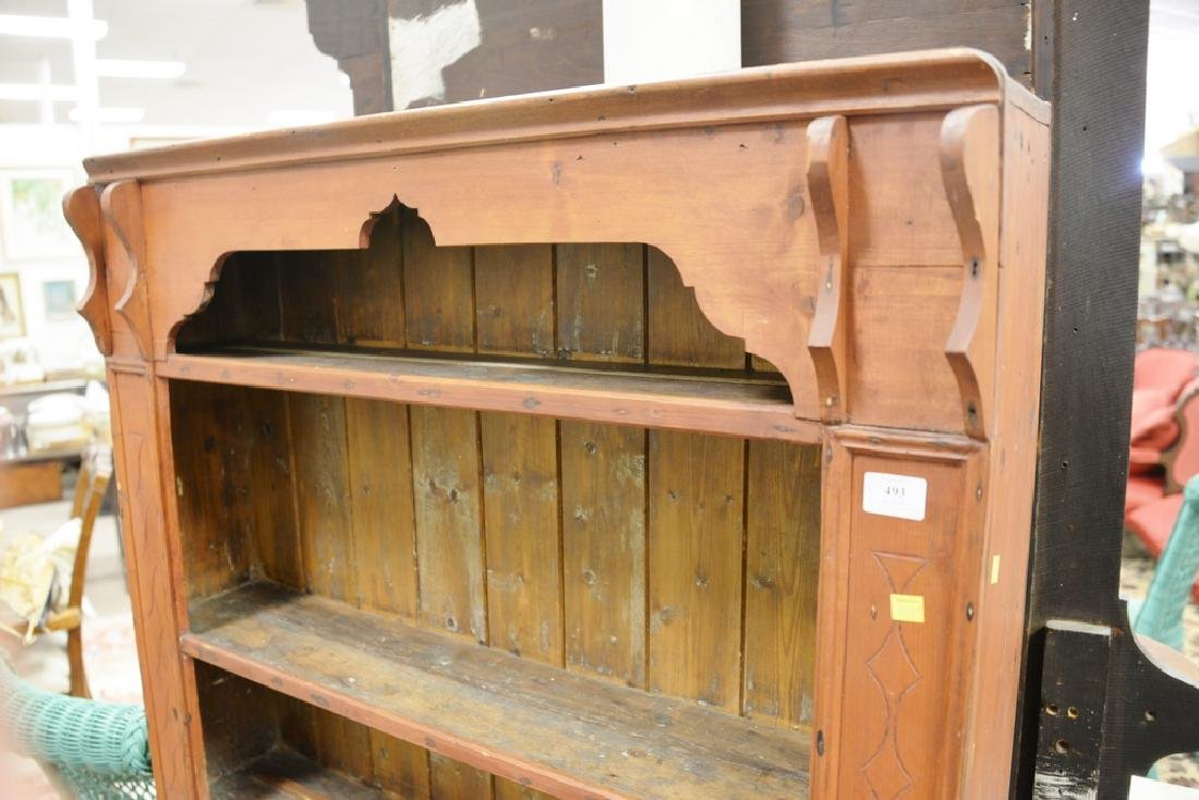Primitive style cupboard. ht. 57 in., wd. 37 1/2 in. - 3