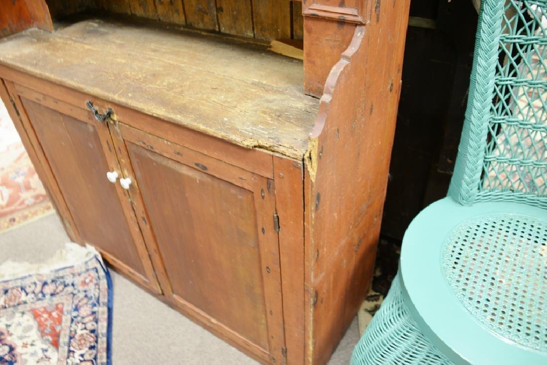 Primitive style cupboard. ht. 57 in., wd. 37 1/2 in. - 4