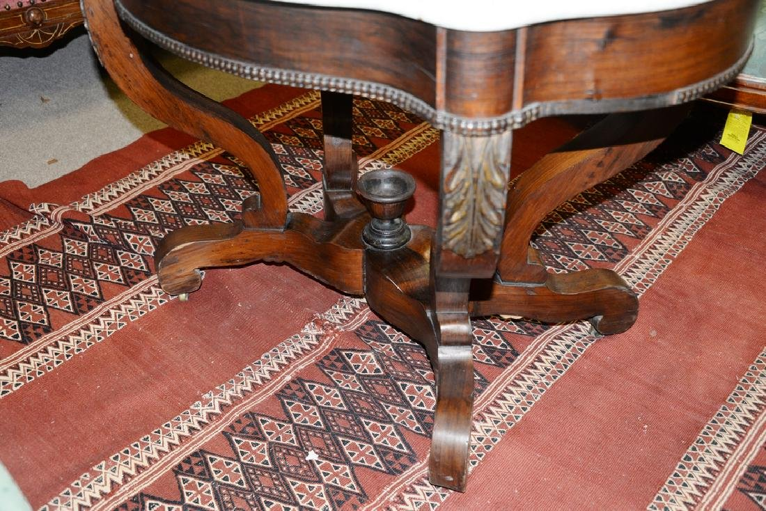 Victorian marble top shaped center table. ht. 28 1/2 - 4