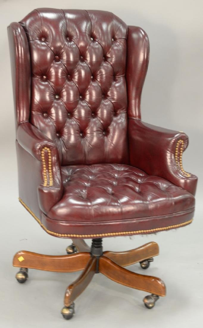 Leather executive swivel chair.