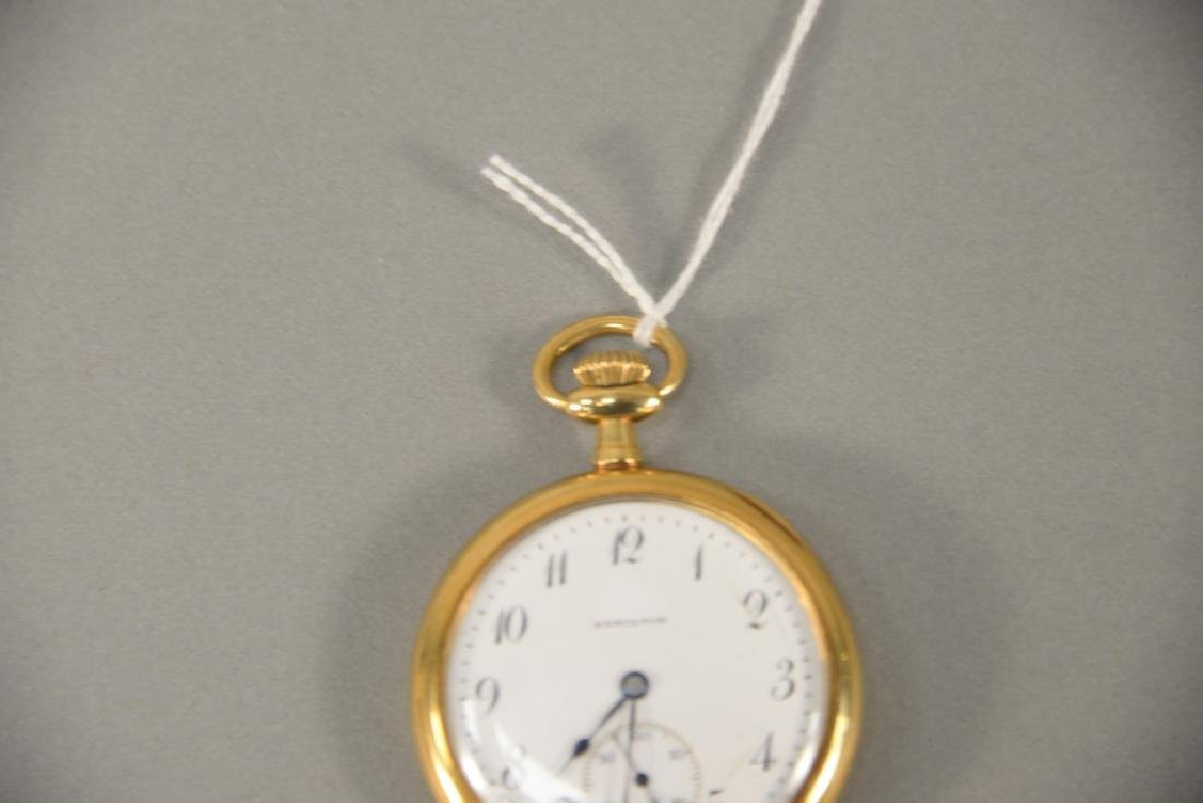 18 karat gold Hamilton pocket watch, open face with - 2