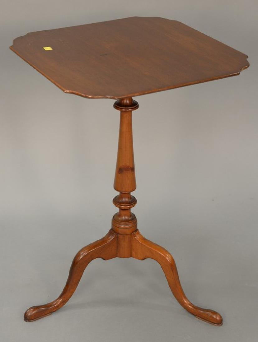 Margolis mahogany candle stand. ht. 27 1/2 in., top: