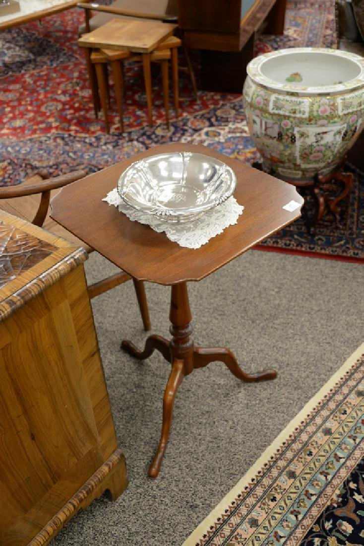 Margolis mahogany candle stand. ht. 27 1/2 in., top: - 2