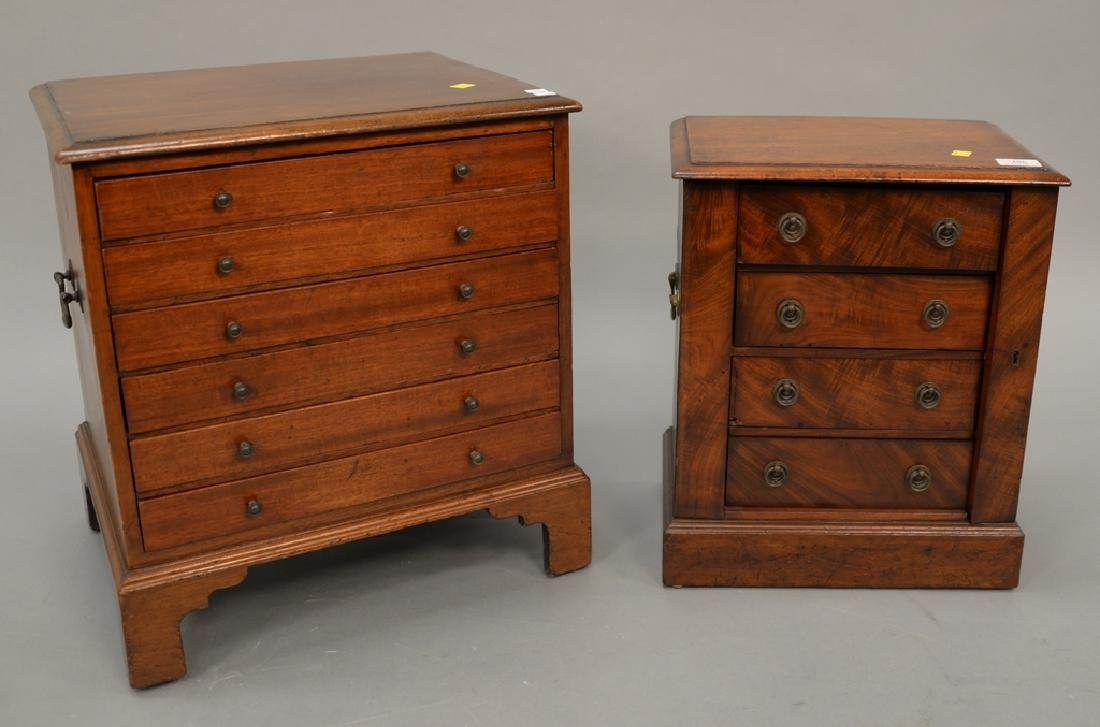 Two mahogany chests including small four drawer